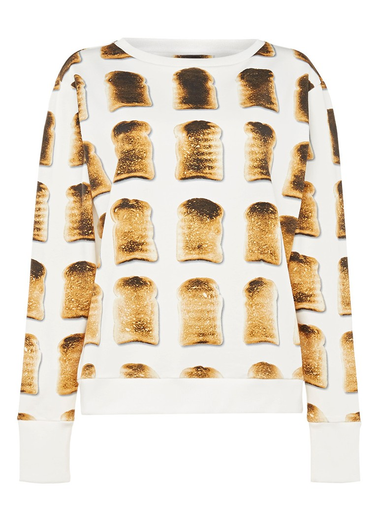 Snurk Sweater in katoenblend met print