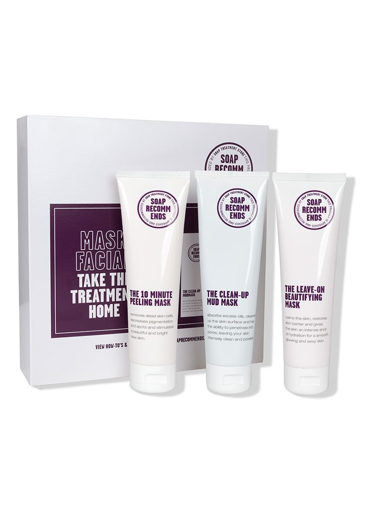 SOAP RECOMMENDS - Mask Facial - Take The Treatment Home Box - verzorgingsset -