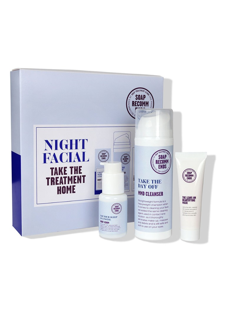 SOAP RECOMMENDS - Night Facial - Take The Treatment Home - verzorgingsset -