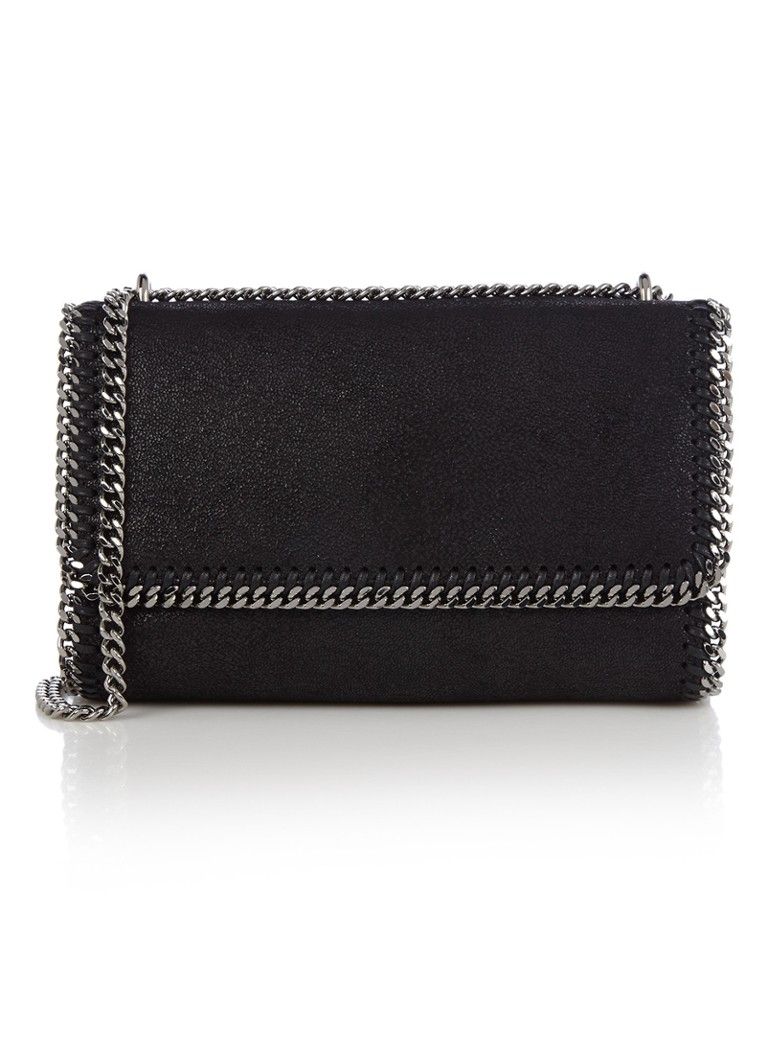 Stella McCartney - Falabella Fold Over crossbodytas van ecoleer - Zwart
