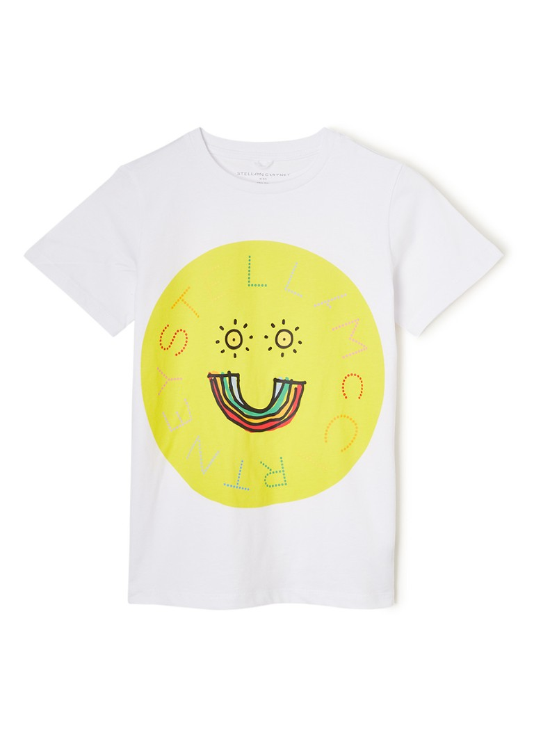 Stella McCartney Kids - T-shirt met frontprint  - Wit