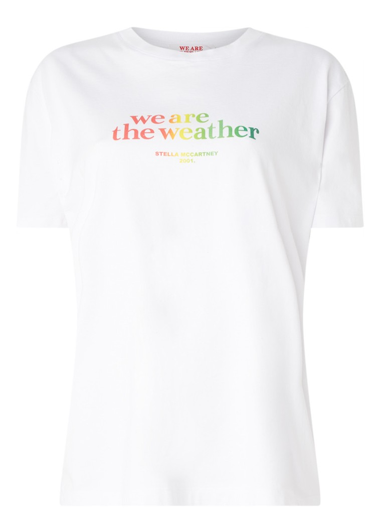 Stella McCartney - We are the Weather T-shirt met tekstopdruk - Wit