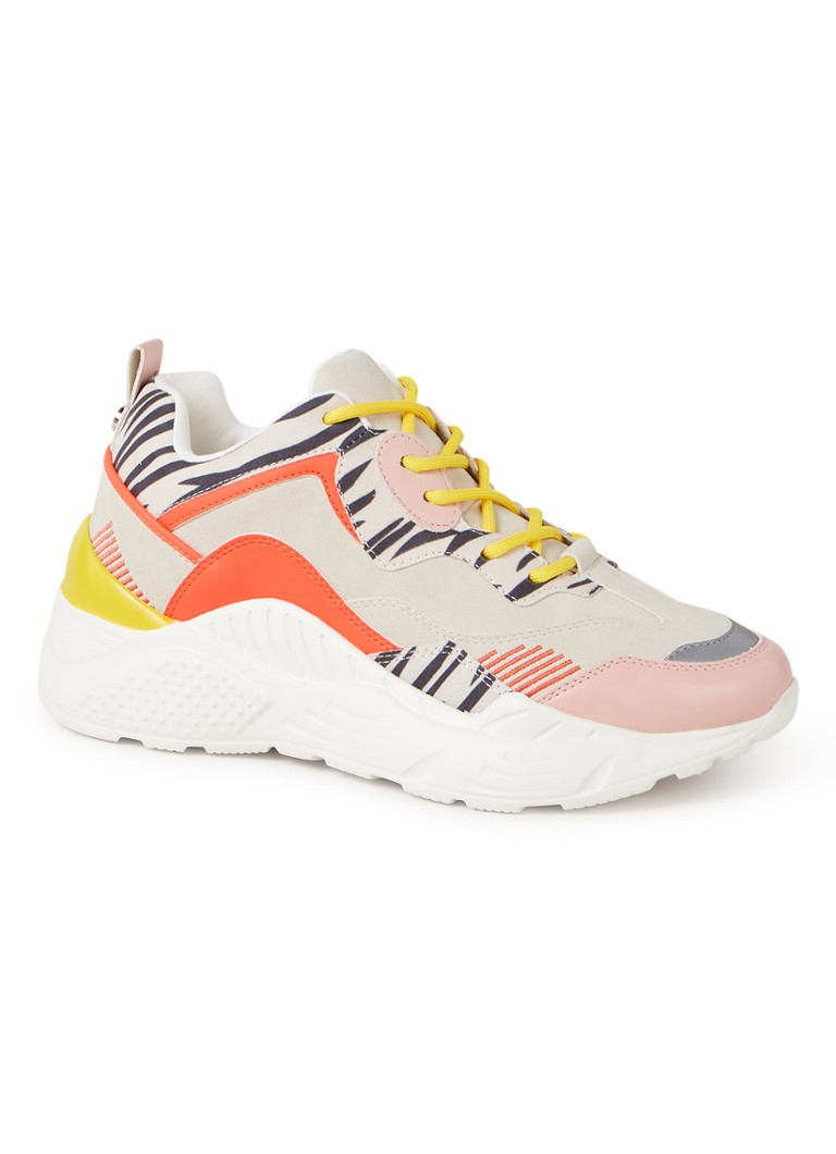 Steve Madden - Antonia sneaker in colourblocking - Koraalrood