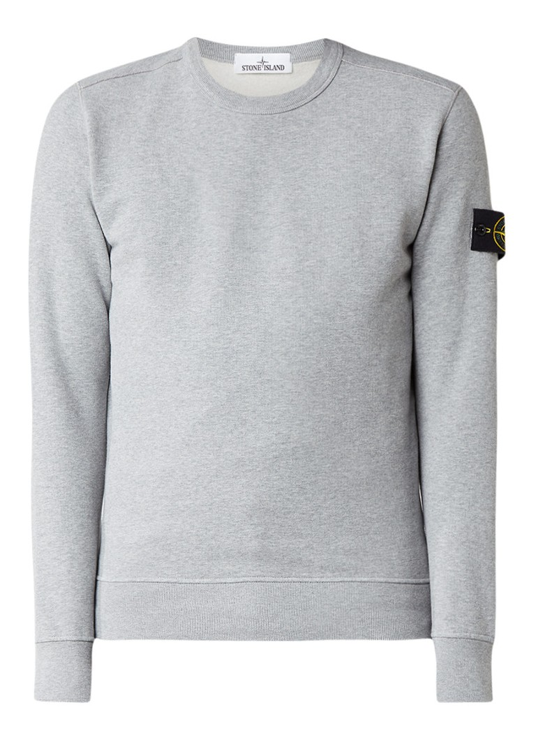 stone island 62720 sweater met merkembleem de bijenkorf. Black Bedroom Furniture Sets. Home Design Ideas