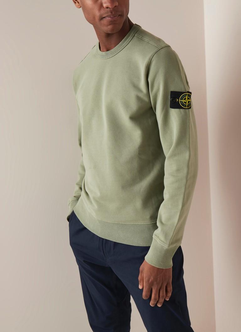 Wonderbaarlijk Stone Island 62751 sweater met logopatch • de Bijenkorf RP-14