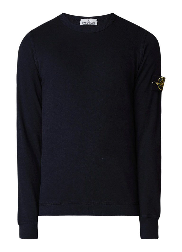 stone island 65360 sweater met merkapplicatie de bijenkorf. Black Bedroom Furniture Sets. Home Design Ideas