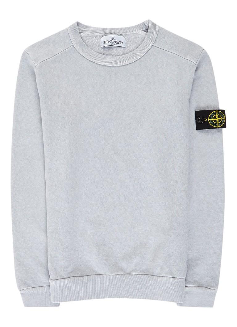 stone island pixel sweater met garment dye de bijenkorf. Black Bedroom Furniture Sets. Home Design Ideas