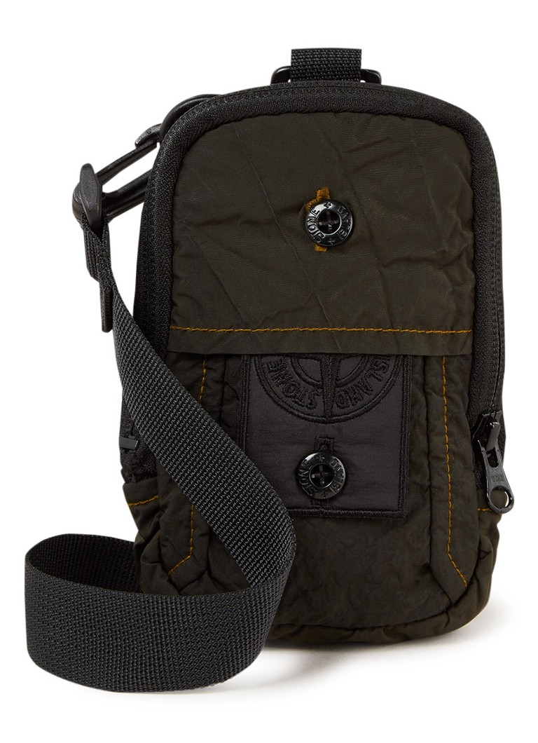 Stone Island Shadow Project - Crossbodytas met logoborduring - Legergroen