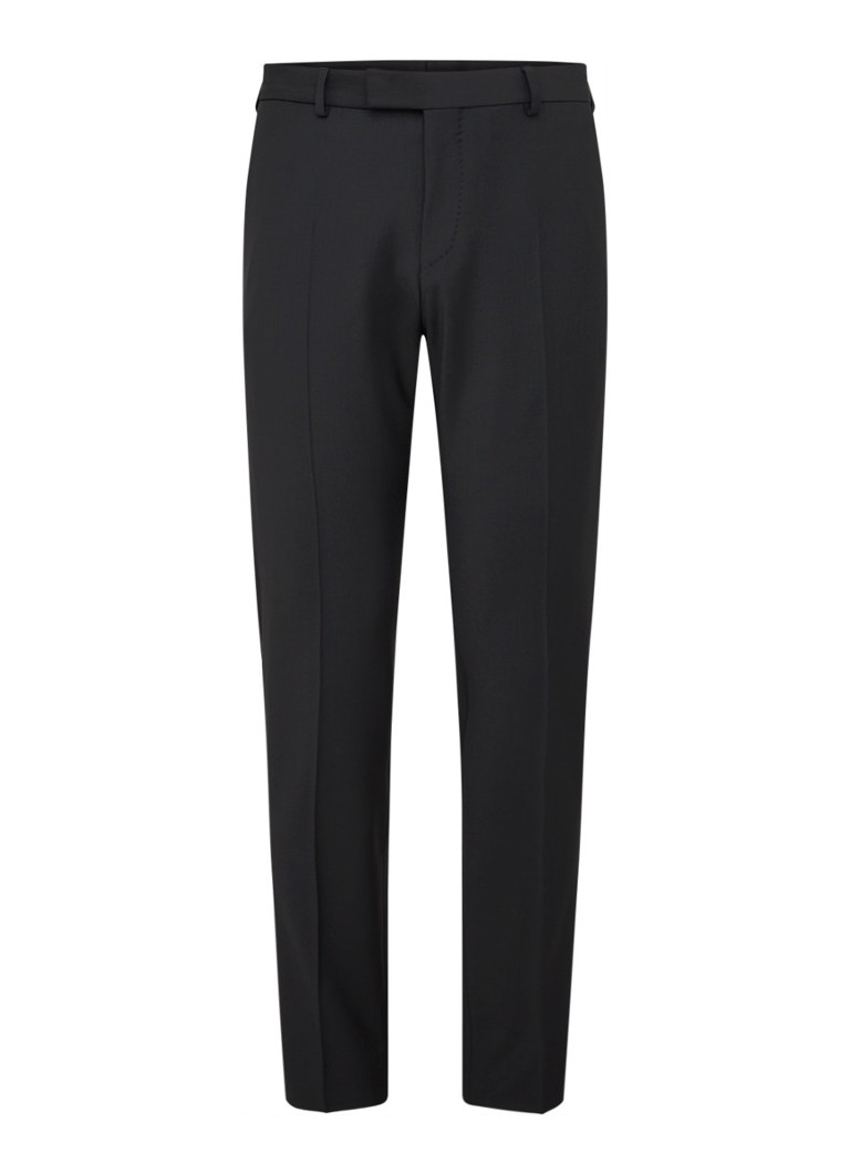 Strellson - Flex Cross Mercer Slim fit pantalon in wolblend - Zwart