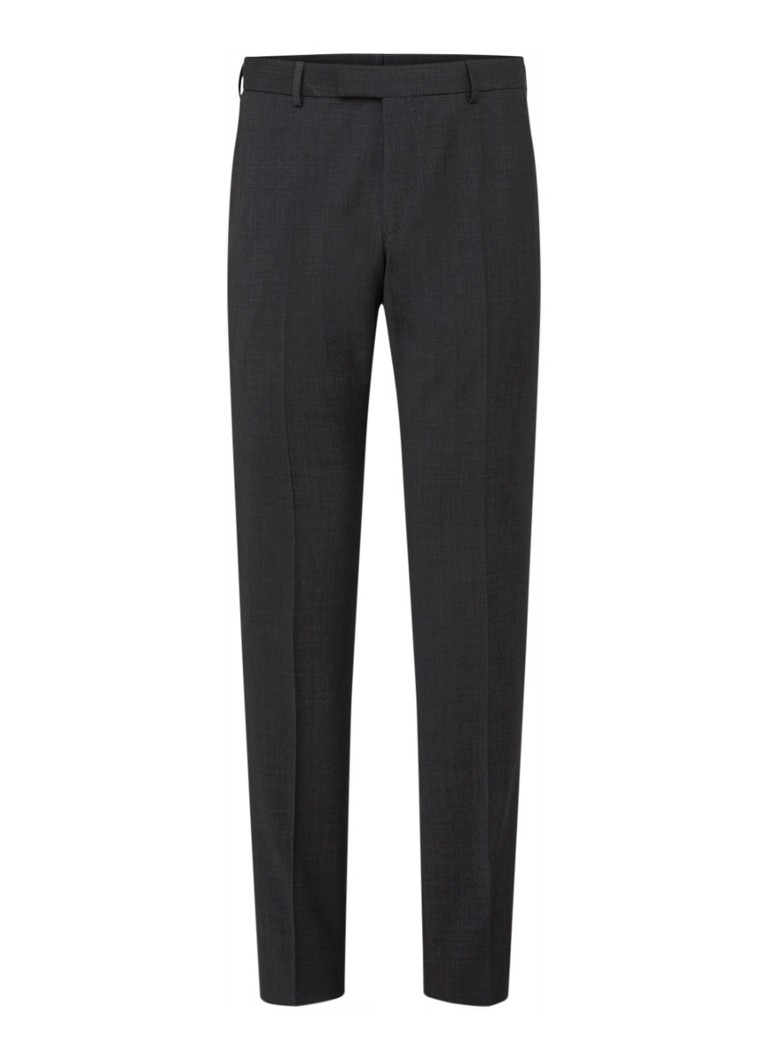 Strellson - Flex Cross Mercer Slim fit pantalon in wolblend - Antraciet