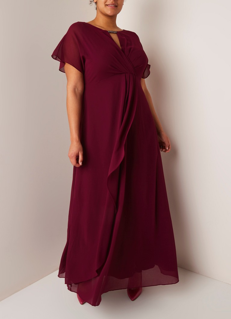 Studio 8 - Destiny maxi-jurk met kralen-applicatie - Aubergine