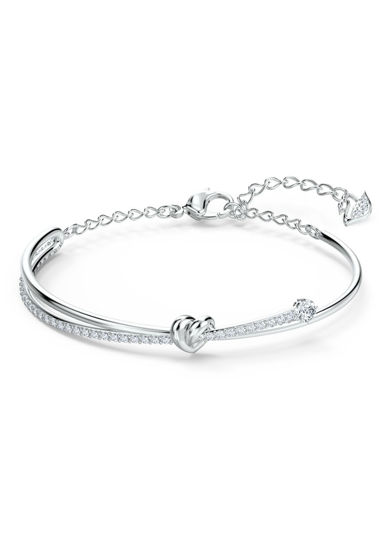 Swarovski - Bangle met kristal  - Zilver