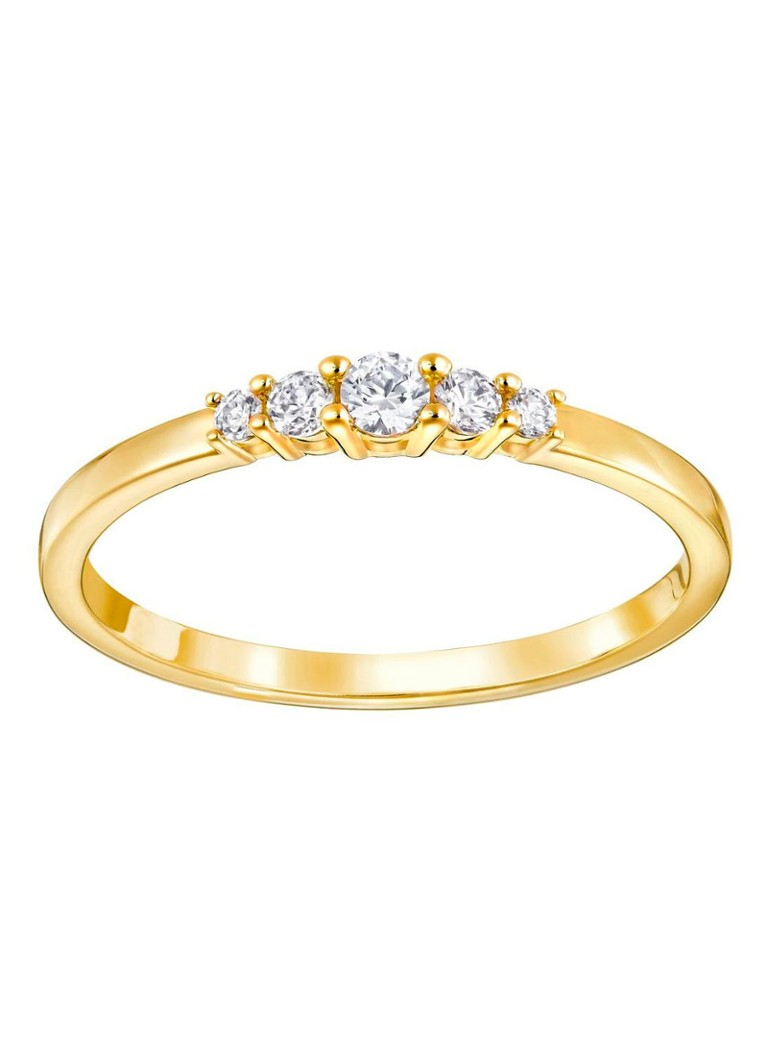 Zeer Swarovski Frisson ring met gouden plating • de Bijenkorf #JB63