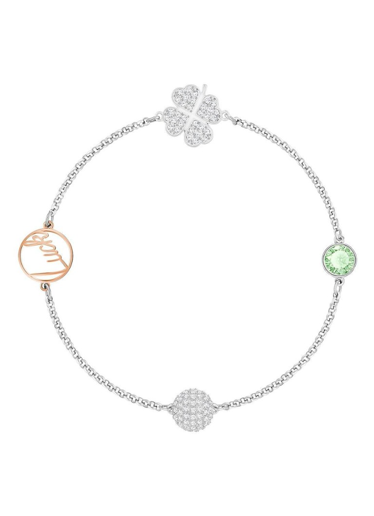 Swarovski - Remix Collection Clover Strand armband 5365755 - Zilver