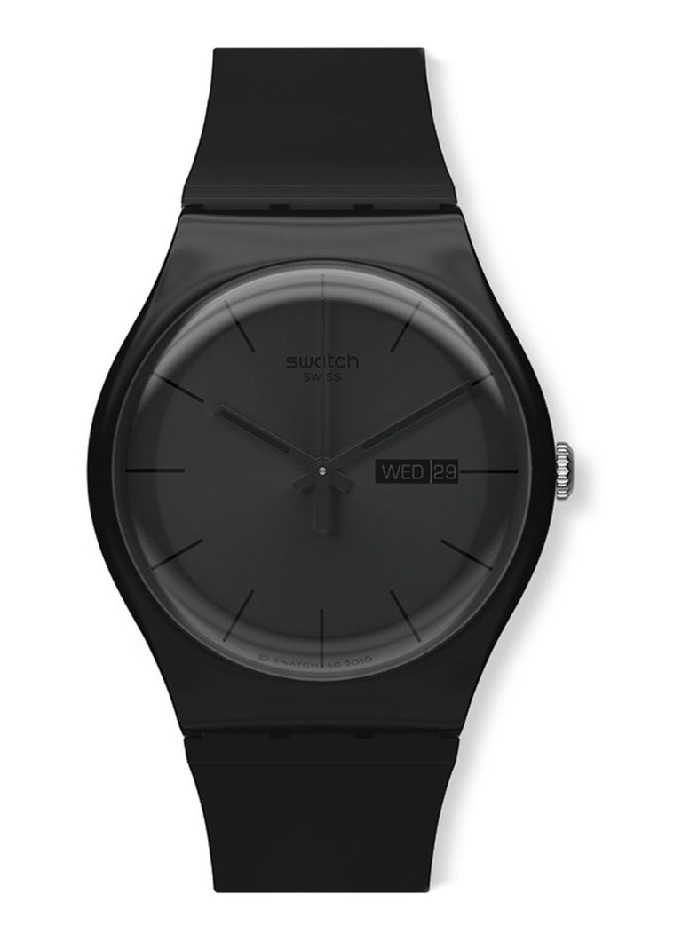 Swatch - Horloge Black Rebel SUOB702 - Zwart
