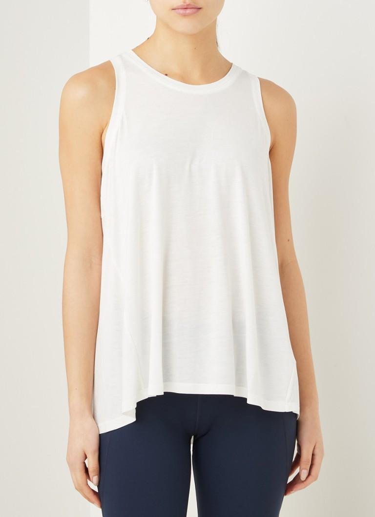 Sweaty Betty - Easy Peazy loungetop met siernaden - Wit