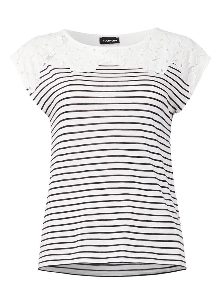 Geliefde TAIFUN Gestreept T-shirt met kant • de Bijenkorf MY94