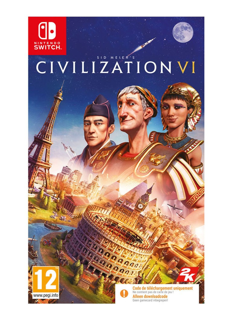 Take-Two - Civilization 6 (VI) (Code in Box) Game - Nintendo Switch - null
