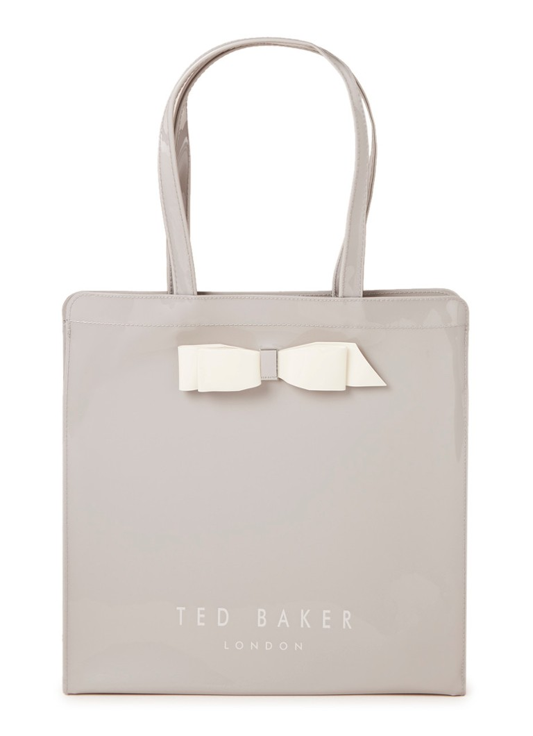 Ted Baker - Almacon shopper met strikdetail  - Grijs