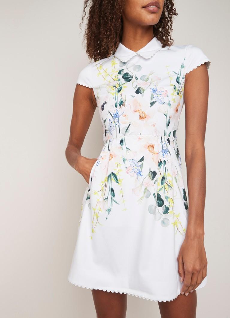 4752b6d5122278 Ted Baker Charsy mini A-lijn jurk met bloemendessin • de Bijenkorf