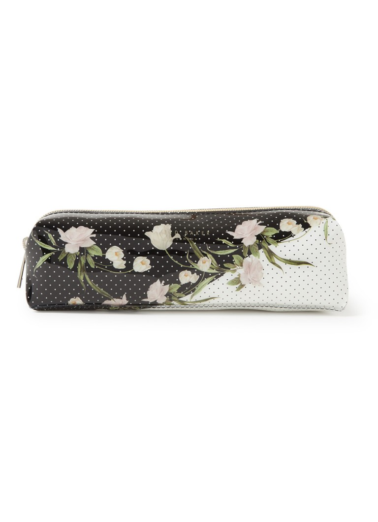 Ted Baker - Corryyn make-up tas met bloemenprint - Zwart