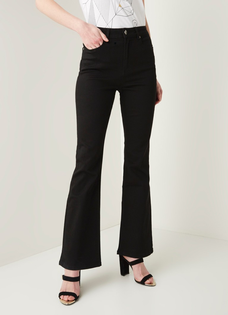 Ted Baker - Flaree high waist flared fit jeans met stretch - Zwart