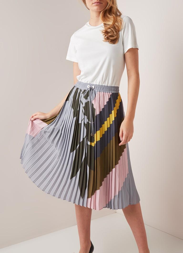 Uitgelezene Ted Baker Izabelle T-shirt jurk met plissè rok en print • Wit • de TK-77