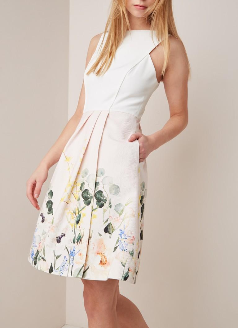 10e6ce7ca09ba4 Ted Baker Kalla mouwloze A-lijn jurk met bloemendessin • de Bijenkorf