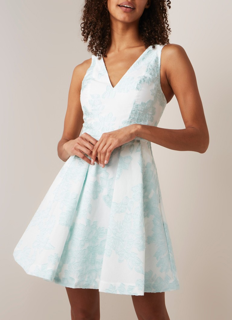 6e7d074bd768f2 Ted Baker Leianna A-lijn jurk met jacquard dessin • de Bijenkorf