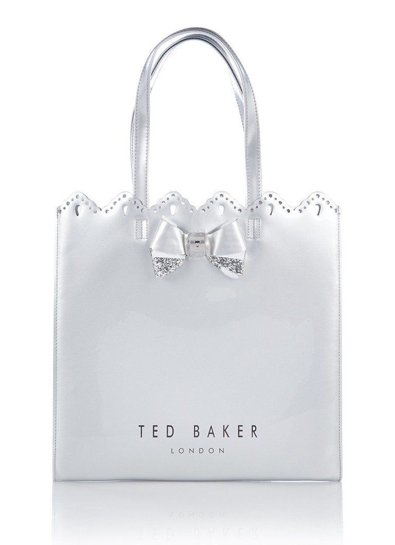 Ted baker scalloped micro bow large shopper de bijenkorf for How to be a professional shopper