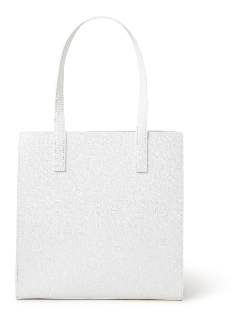Ted Baker - Small Icon shopper met logoprint - Ivoor