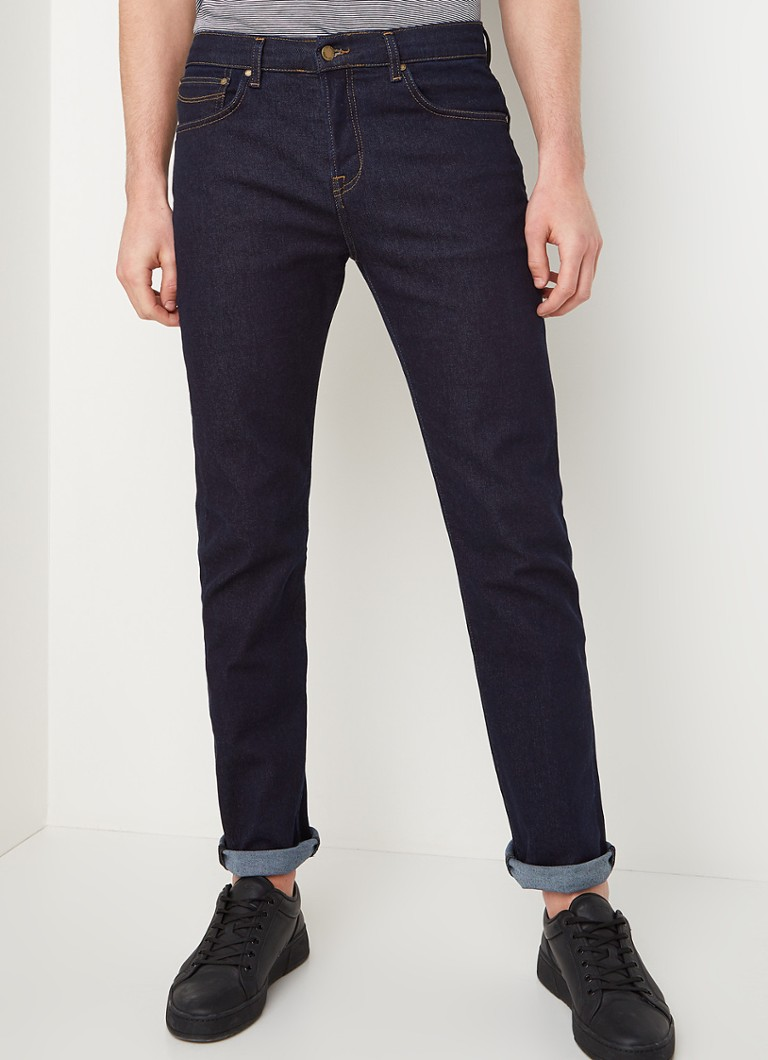 Ted Baker - Straight fit jeans met donkere wassing  - Indigo