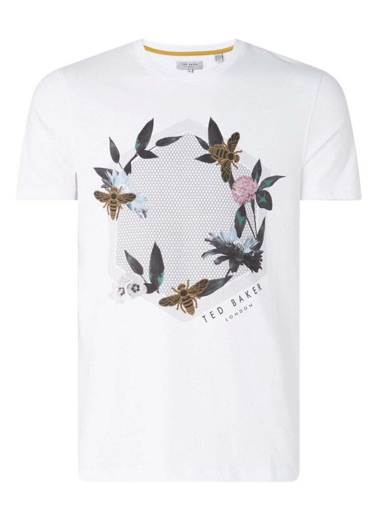 Ted Baker - T-shirt met frontprint - Wit