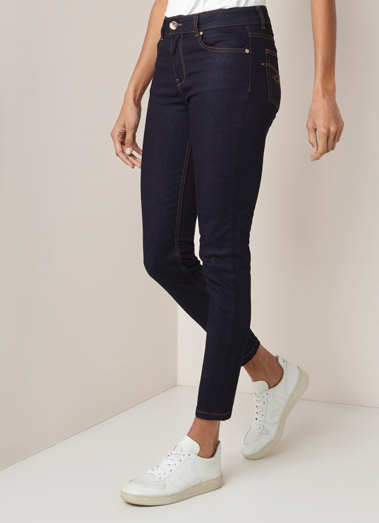 Ted Baker - Ted Baker Rebacco high waist skinny fit jeans met donkere wassing - Indigo