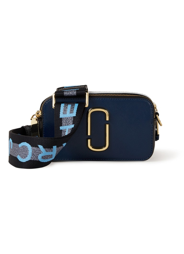 The Marc Jacobs - The Snapshot crossbodytas van leer  - Donkerblauw
