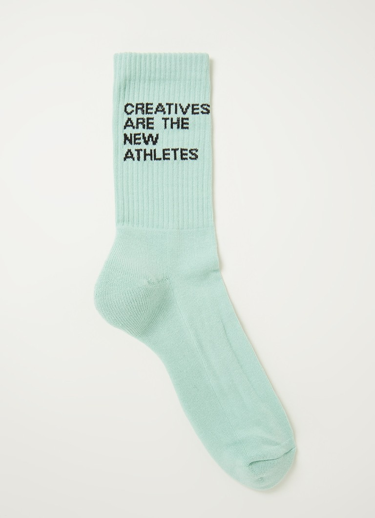 The New Originals - Creatives Are The New Athletes sokken met print - Mint