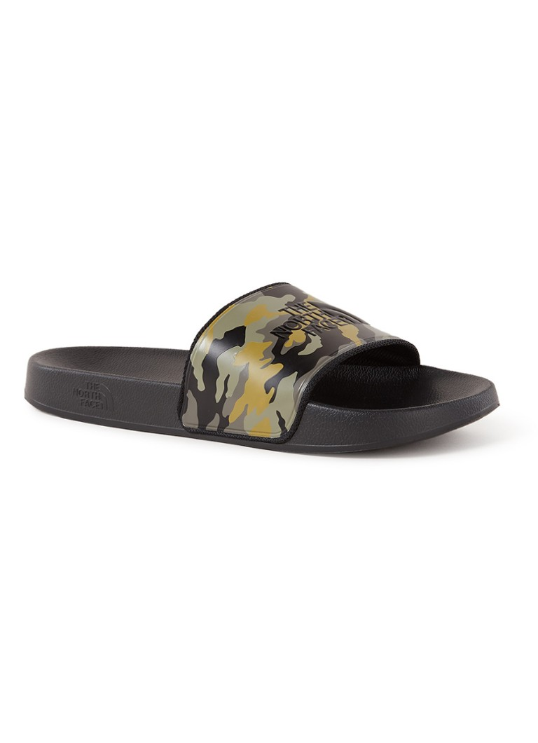 The North Face - Base Camp badslipper met camouflagedessin - Legergroen