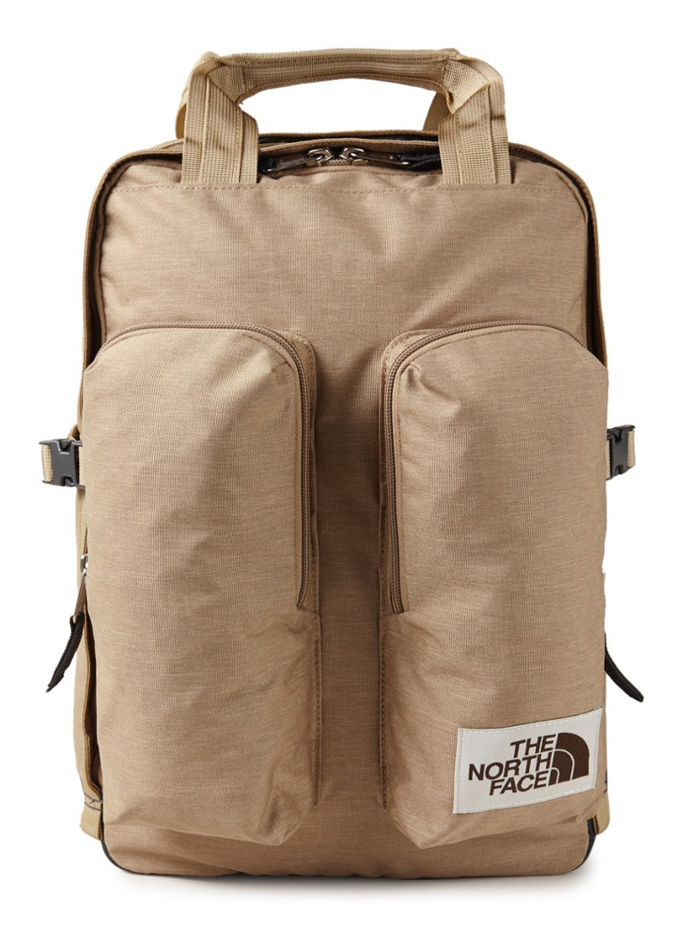 The North Face - Crevasse rugzak met 15 inch laptopvak - Lichtbruin
