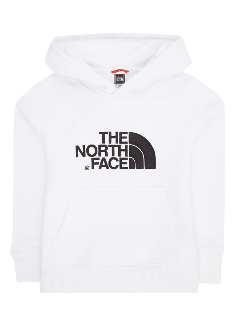 The North Face - Hoodie met logoborduring en buidelzak - Wit