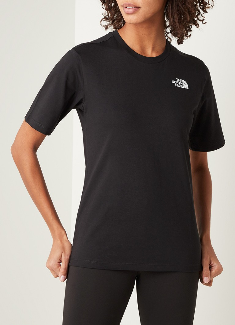 The North Face - Simple Dome T-shirt met logoprint - Zwart