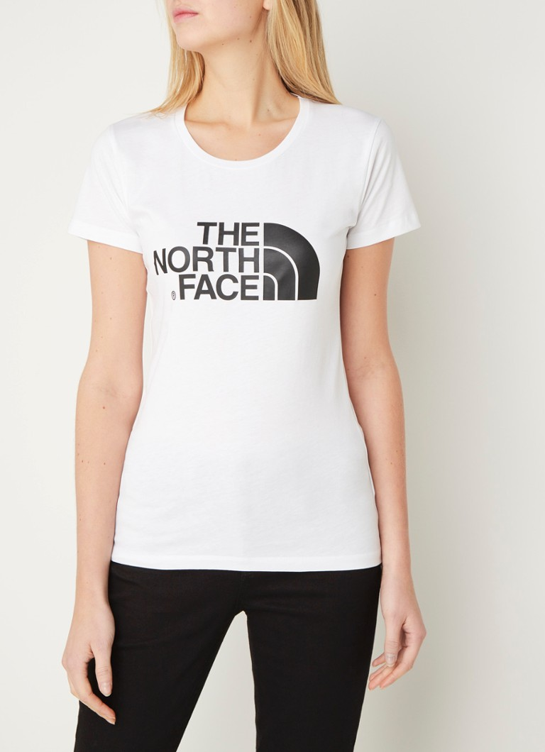 The North Face - T-shirt met logoprint - Wit