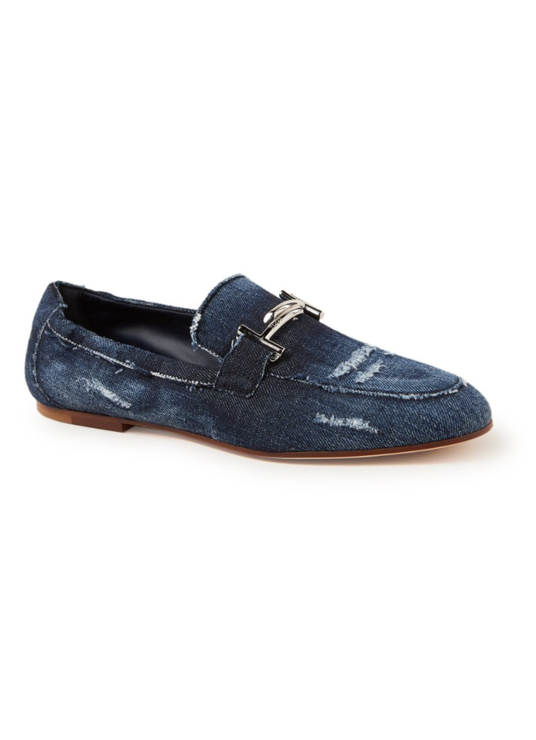 Tod's - Loafer van denim - Indigo