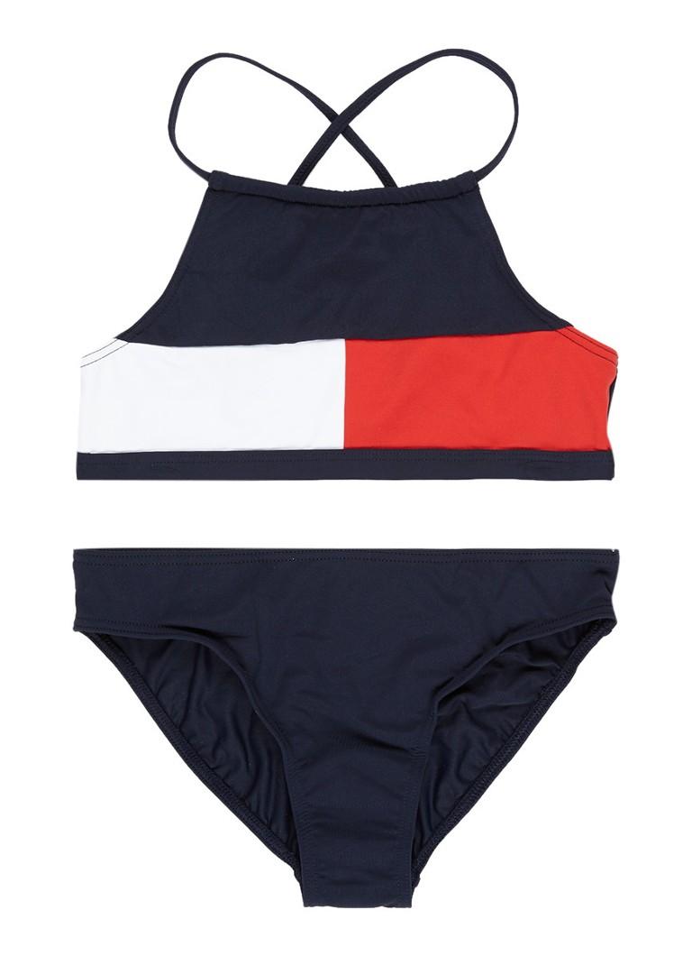 tommy hilfiger bikini met logo de bijenkorf. Black Bedroom Furniture Sets. Home Design Ideas
