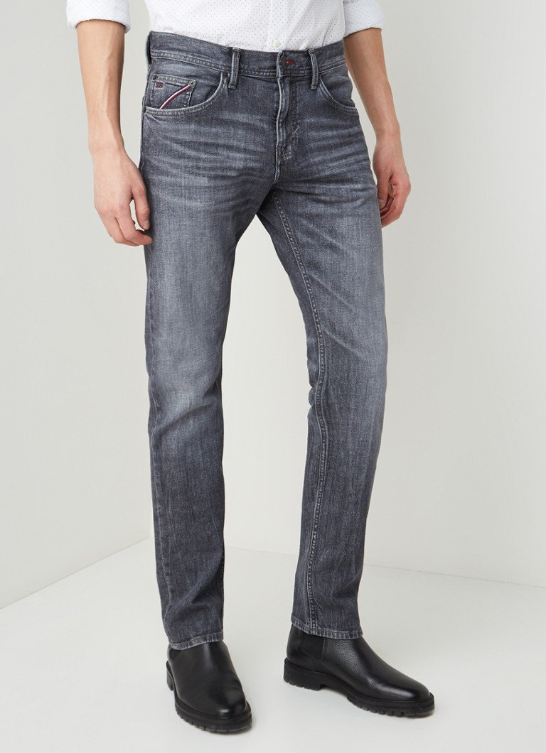 Tommy Hilfiger - Bleecker slim fit jeans met stretch - Middengrijs