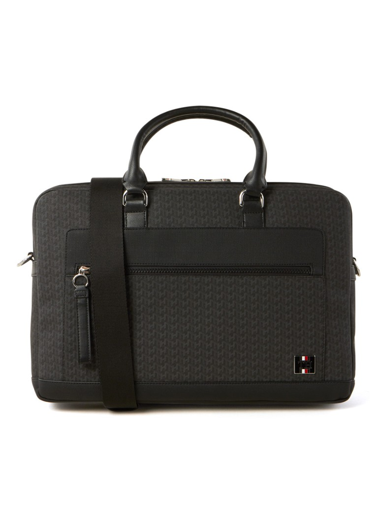 Tommy Hilfiger - Businesstas met 13 inch laptopvak - Antraciet