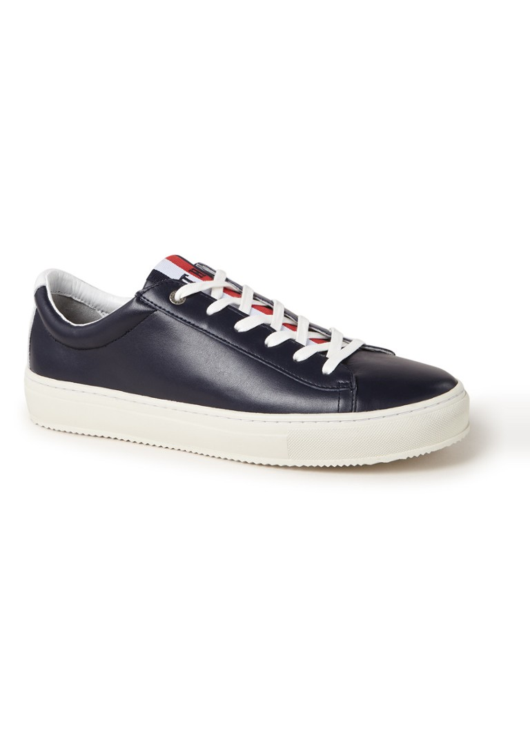 Tommy Hilfiger - Corporate sneaker van leer - Royalblauw