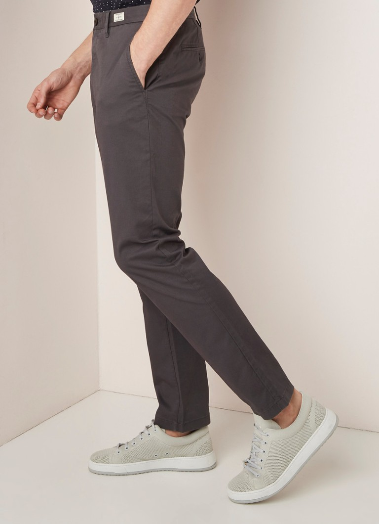 Tommy Hilfiger - Denton straight fit chino met stretch - Antraciet