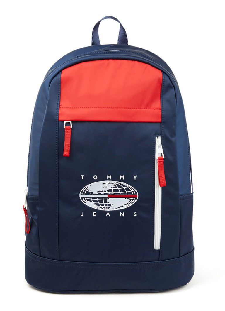 Tommy Hilfiger - Expedition rugzak met logoborduring - Donkerblauw