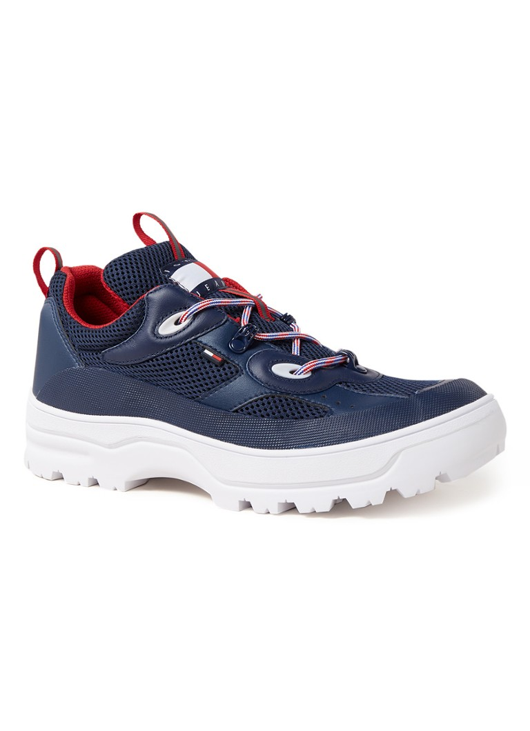 Tommy Hilfiger - Expedition sneaker met mesh details - Blauw
