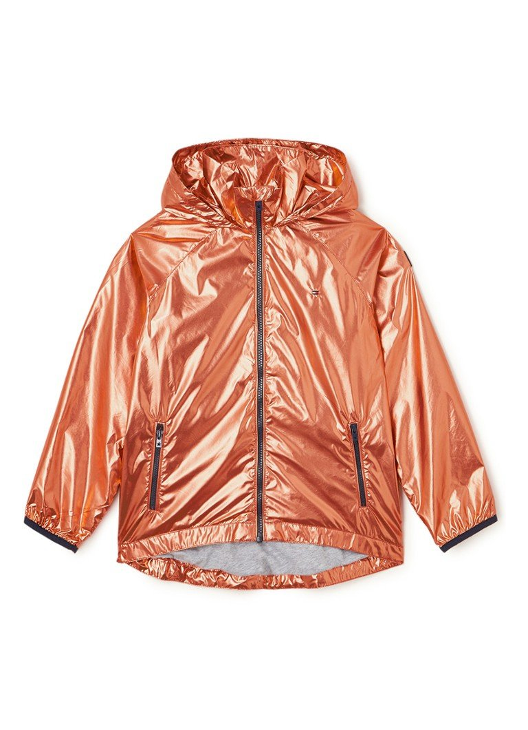 Tommy Hilfiger - Jack met metallic coating en merkapplicatie - Oranje